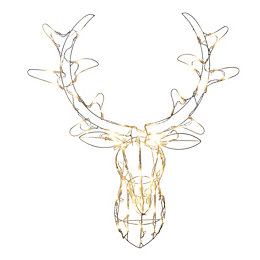 LED Stag Head Silhouette