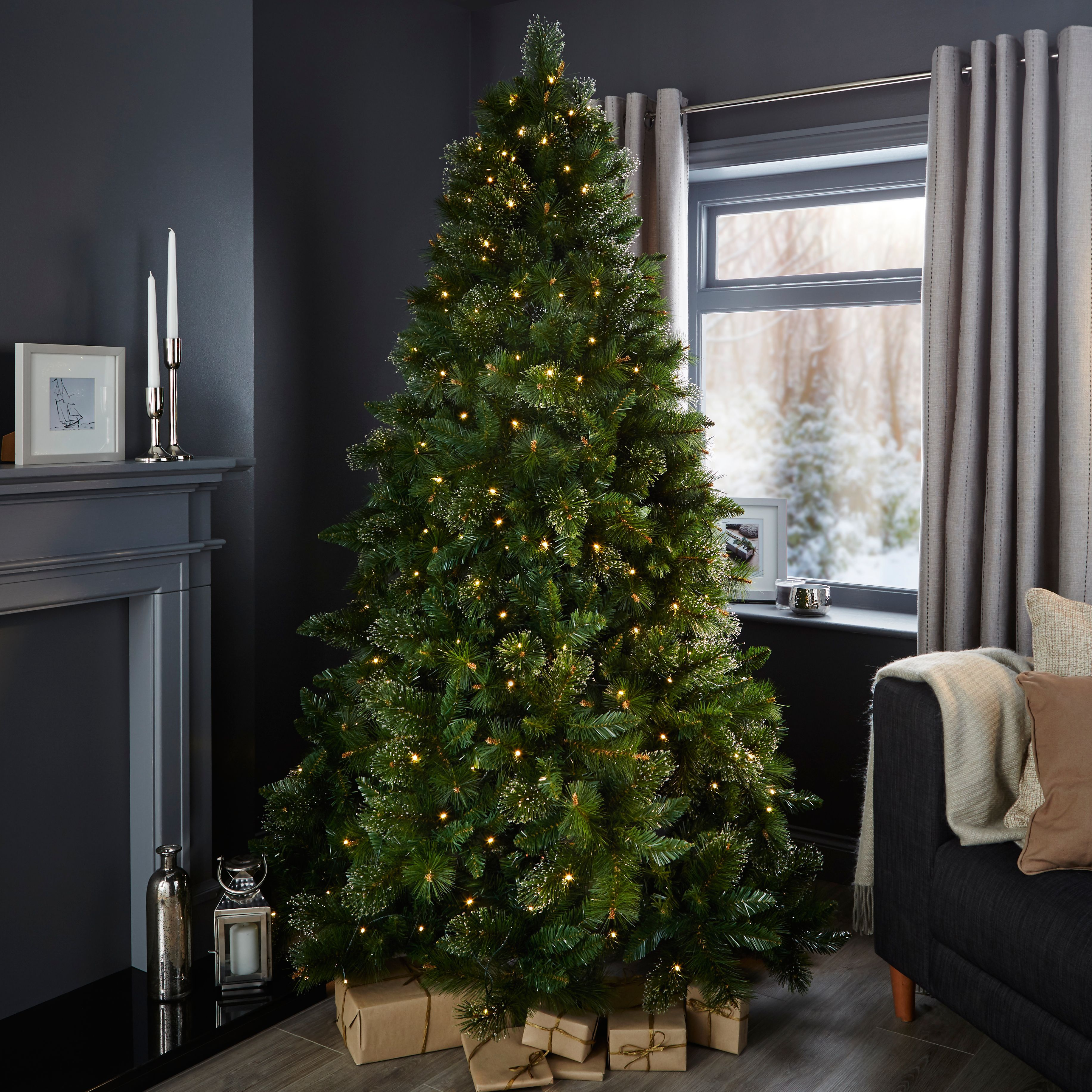 7ft cleveland pre lit christmas tree departments diy at bq - Pre Lit Christmas Tree