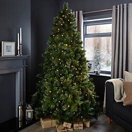 7ft Cleveland Pre-Lit Christmas Tree