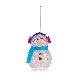 Battery Operated LED Snowman Indoor Decoration