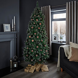 7ft Cannock Pre-Decorated Christmas Tree