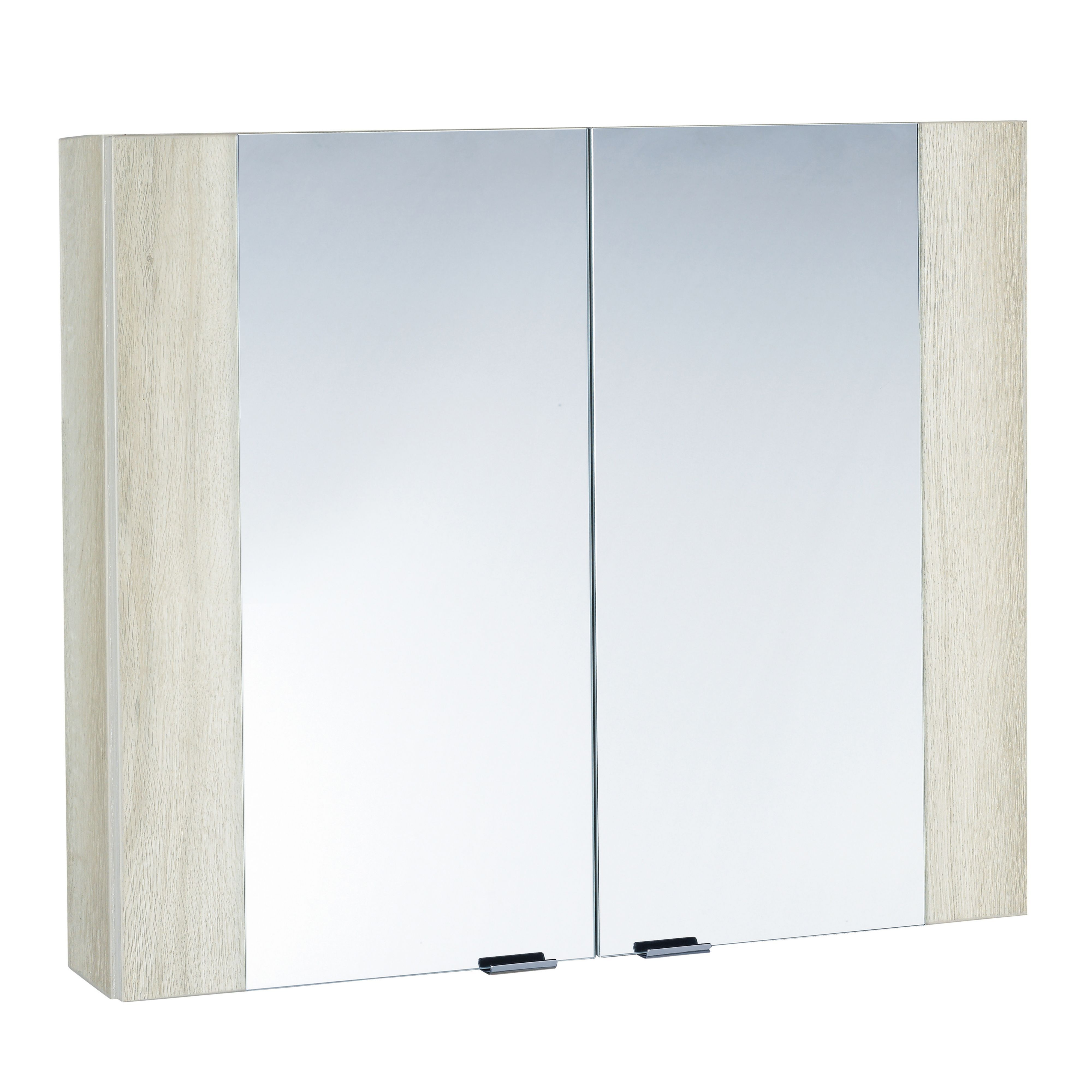 Cooke lewis amazon double door white light oak effect for Double mirror effect
