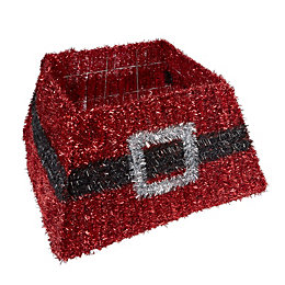 Tinsel Red Santas Belt Tree Skirt