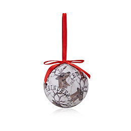 Decoupage Small Reindeer Bauble