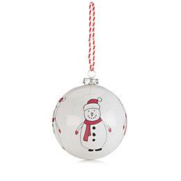 Red & Cream Snowman Bauble