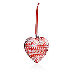 Red Skandi Heart Tree Decoration