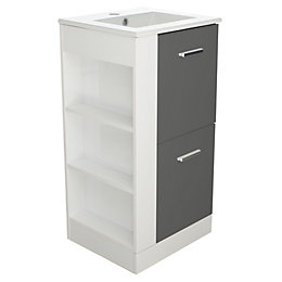 Cooke & Lewis Waneta Grey Vanity Unit &