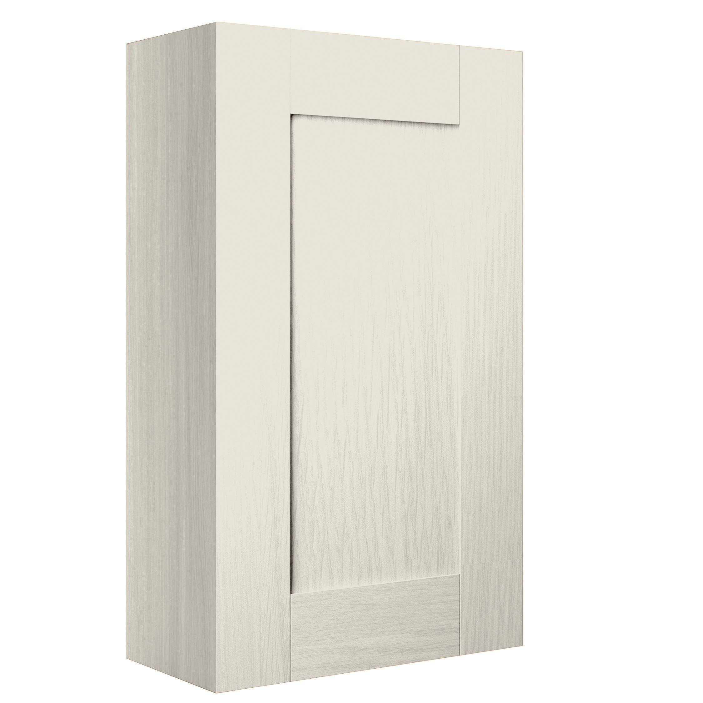 Cooke lewis sorella textured mussel single door wall for B q bathroom cabinets