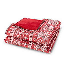 Mariah Red Fairisle Chenillie Throw