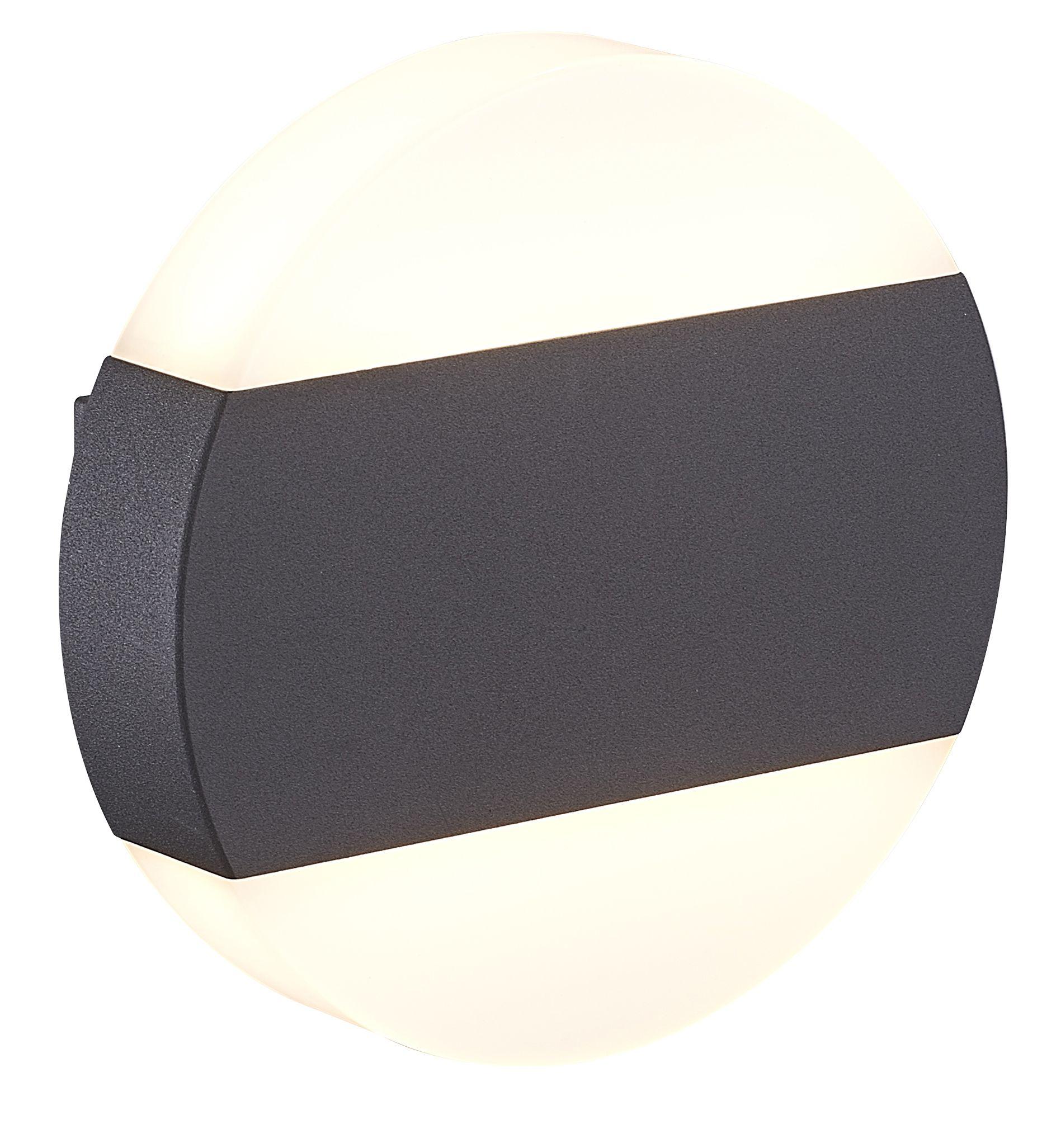 Blooma Graeae Black Mains Powered Circular External Wall Light