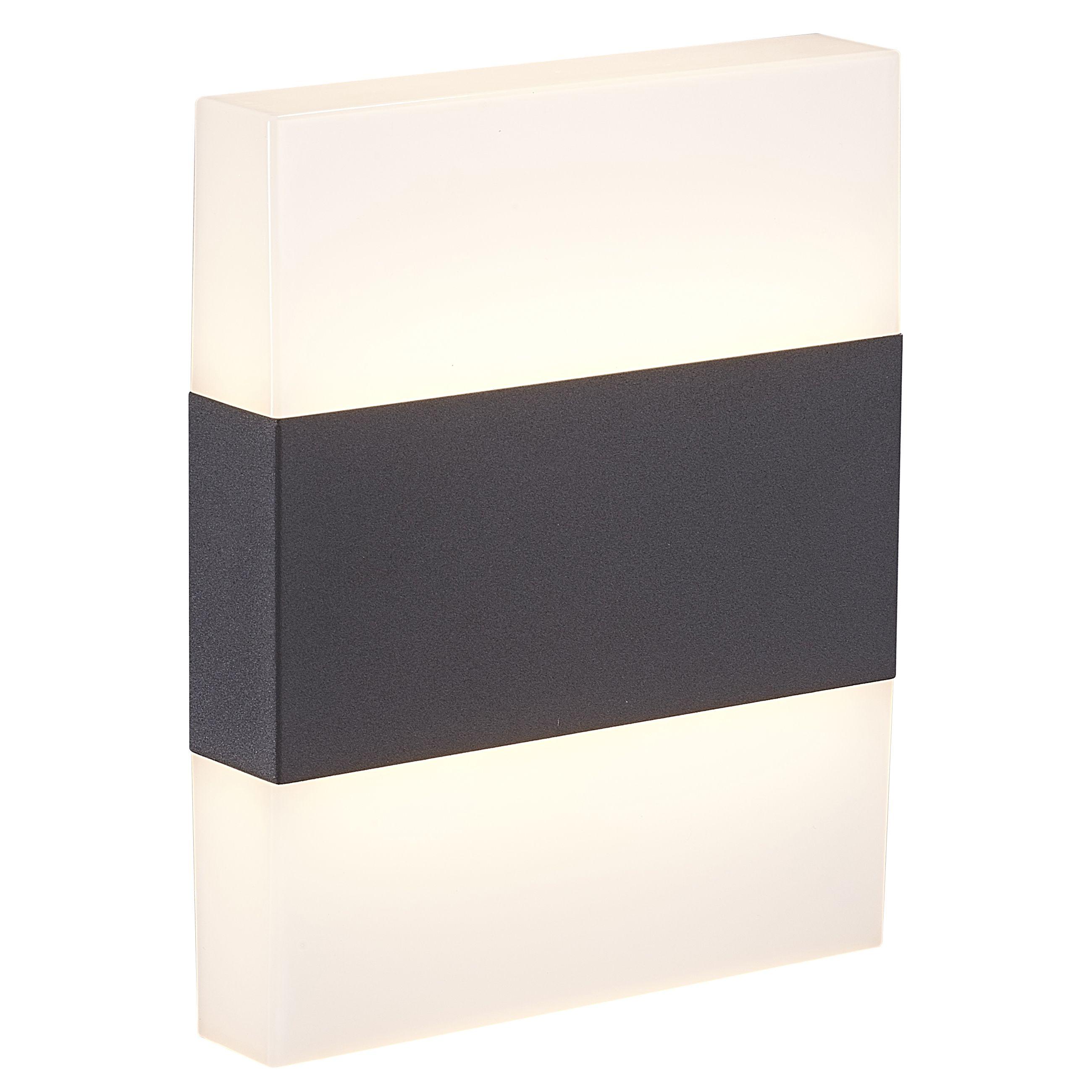Blooma Graeae Black Mains Powered Rectangular External Wall Light