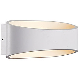 Blooma Asterion White Mains Powered External Wall Light