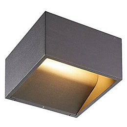 Blooma Onnes Grey Mains Powered External Wall Light
