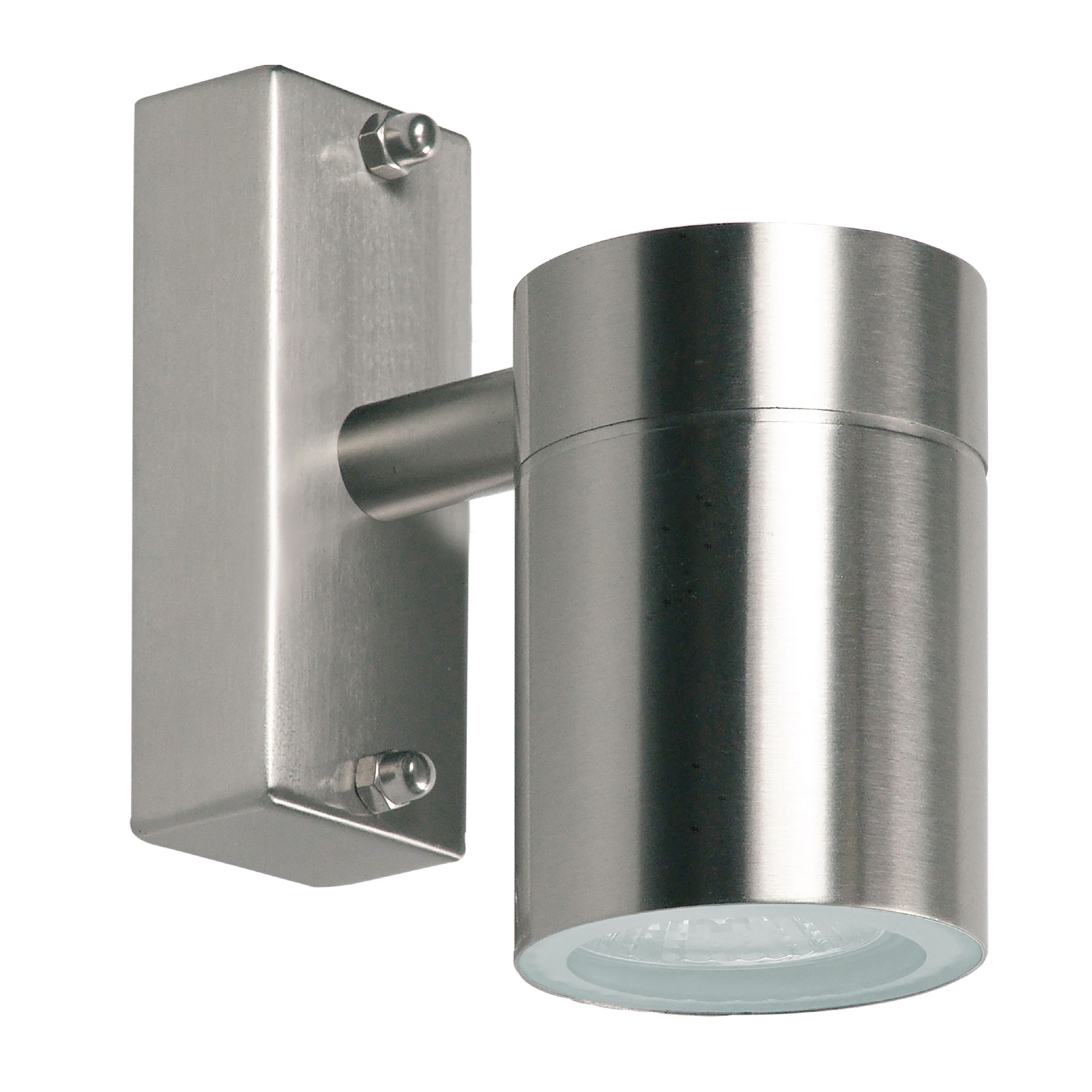 Blooma Hiero Stainless Steel Silver Mains Powered External Wall Light