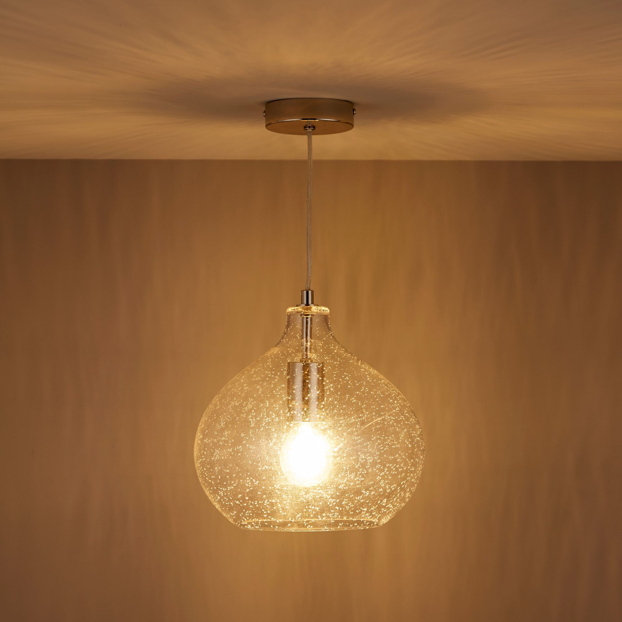Hester Bubble Glass Pendant Ceiling Light