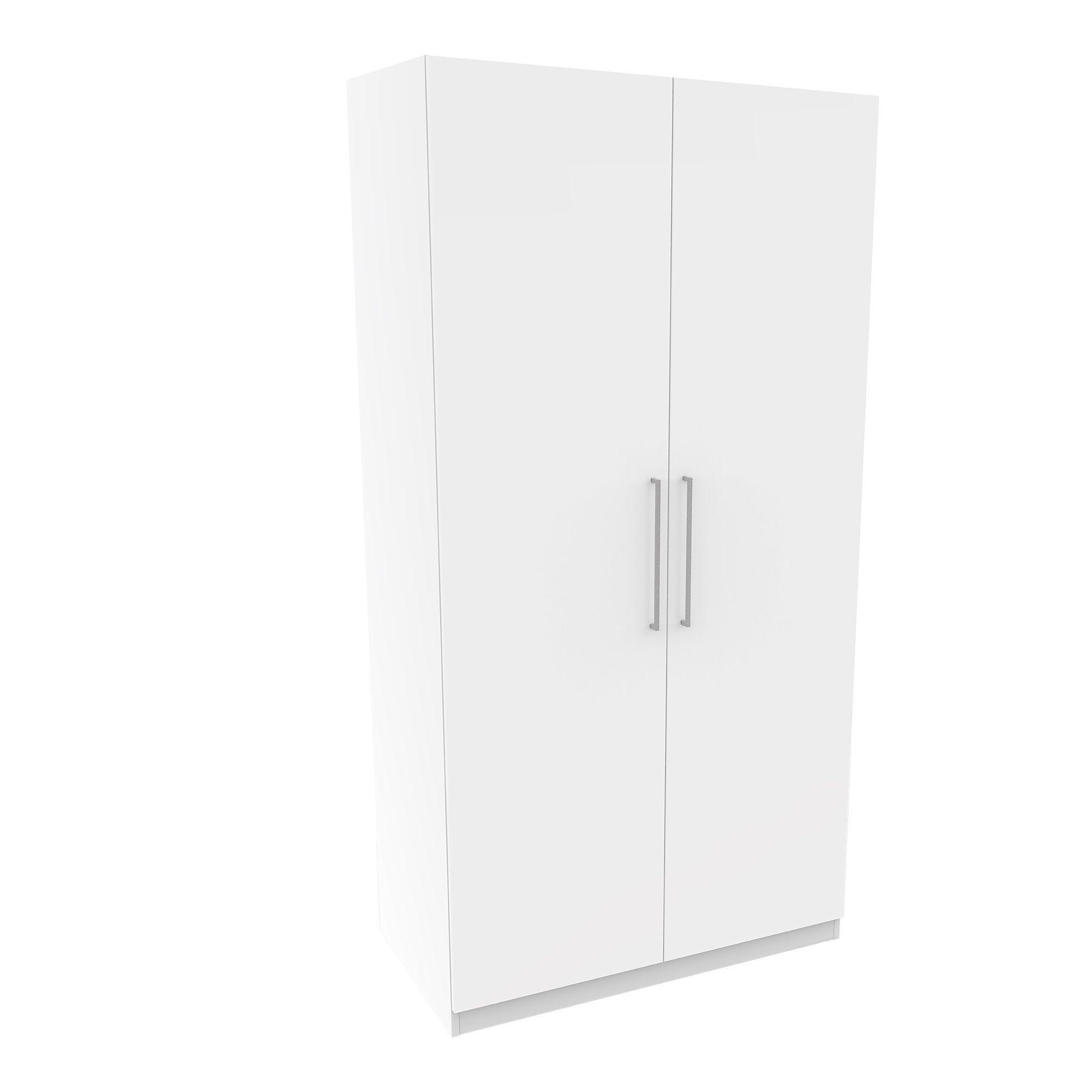Darwin White Gloss 2 Door Wardrobe (h)2004mm (w)1000mm