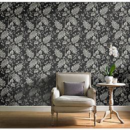 Black Splendour Mica Shine Wallpaper