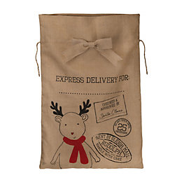 Reindeer Hessian Sack