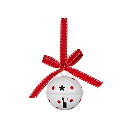 Red & White Spot Bell Tree Decoration