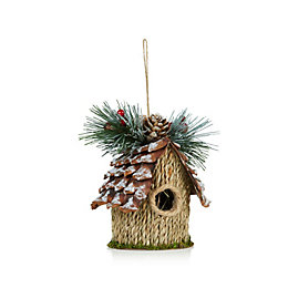 Rustic Natural Birdhouse Tree Decoration