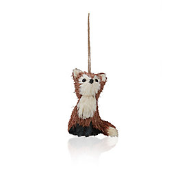 Rustic Natural Fox Tree Decoration