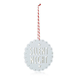 Felt White Silent Night Tree Decoration