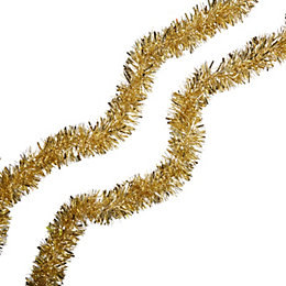 Gold Effect Tinsel, (L) 2m