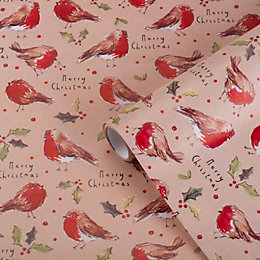 Traditional Robin Wrapping Paper, 70 cm x 4