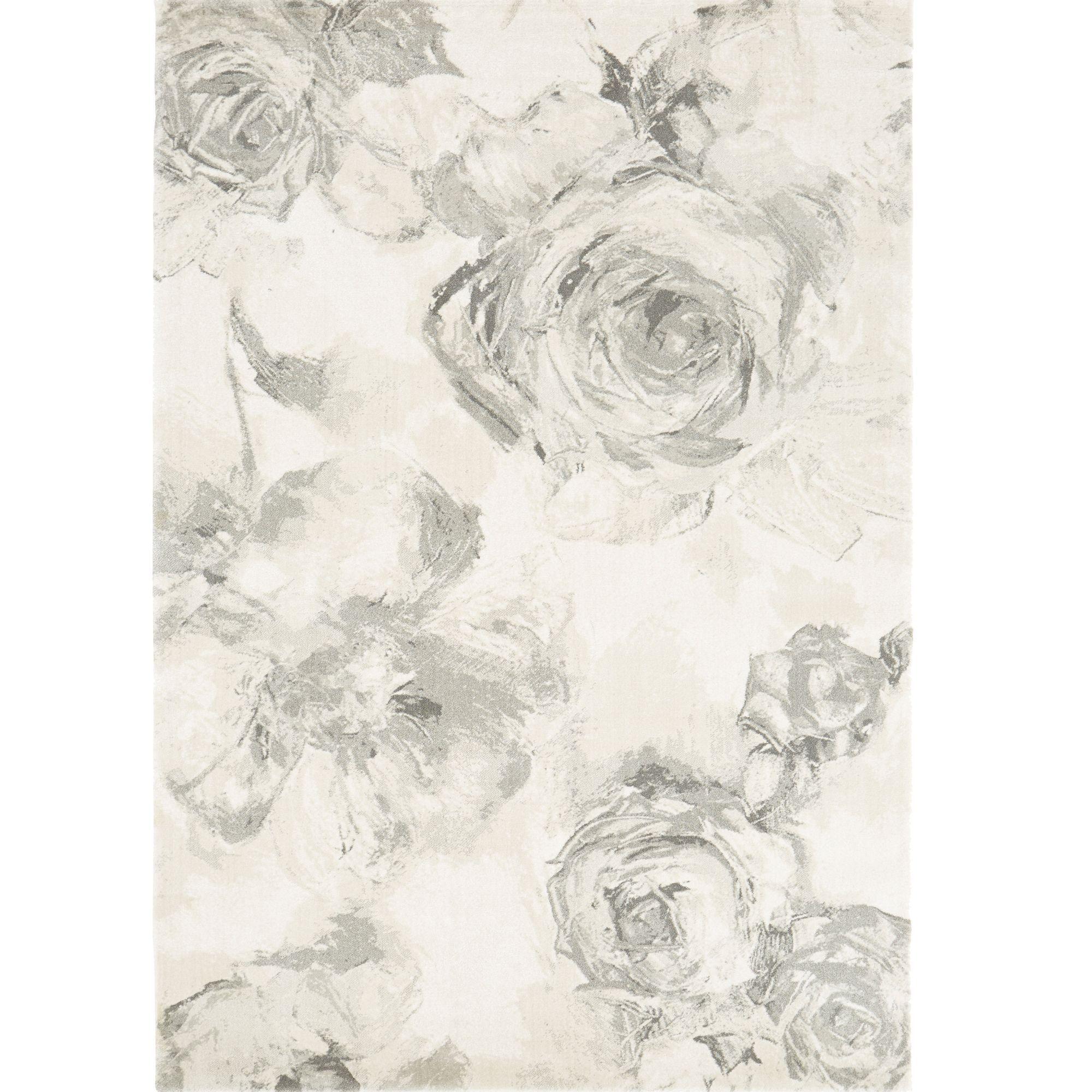 Colours Florelle Cream & Grey Floral Rug (L)2.3M (W)1.6 M
