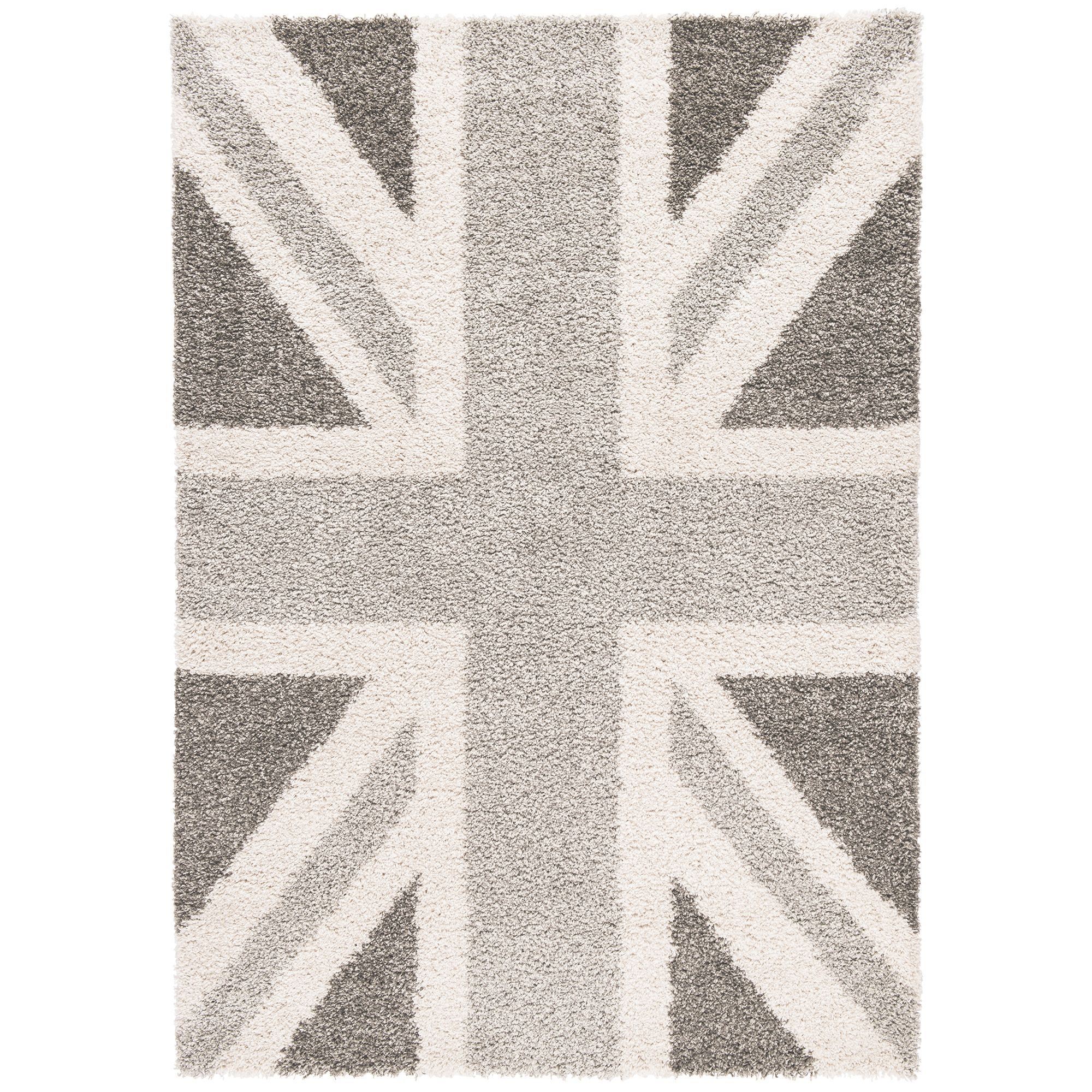Colours Raegan Grey Union Jack Rug L 1 7m W 2 M Departments Diy At B Q
