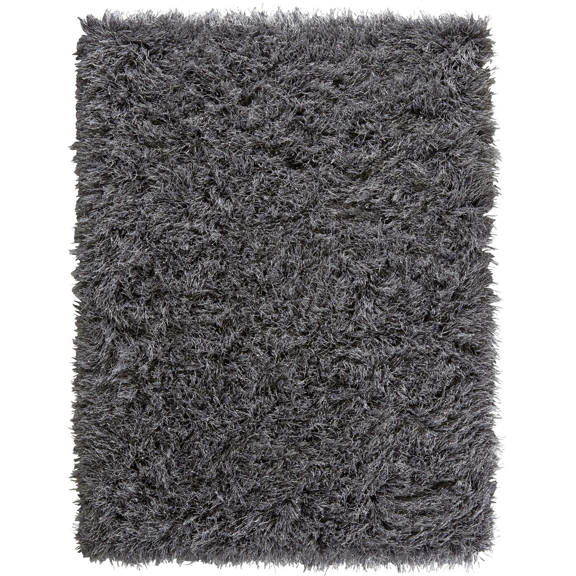 Colours Sapphire Grey Plain Rug (l)0.23m (w)0.16 M