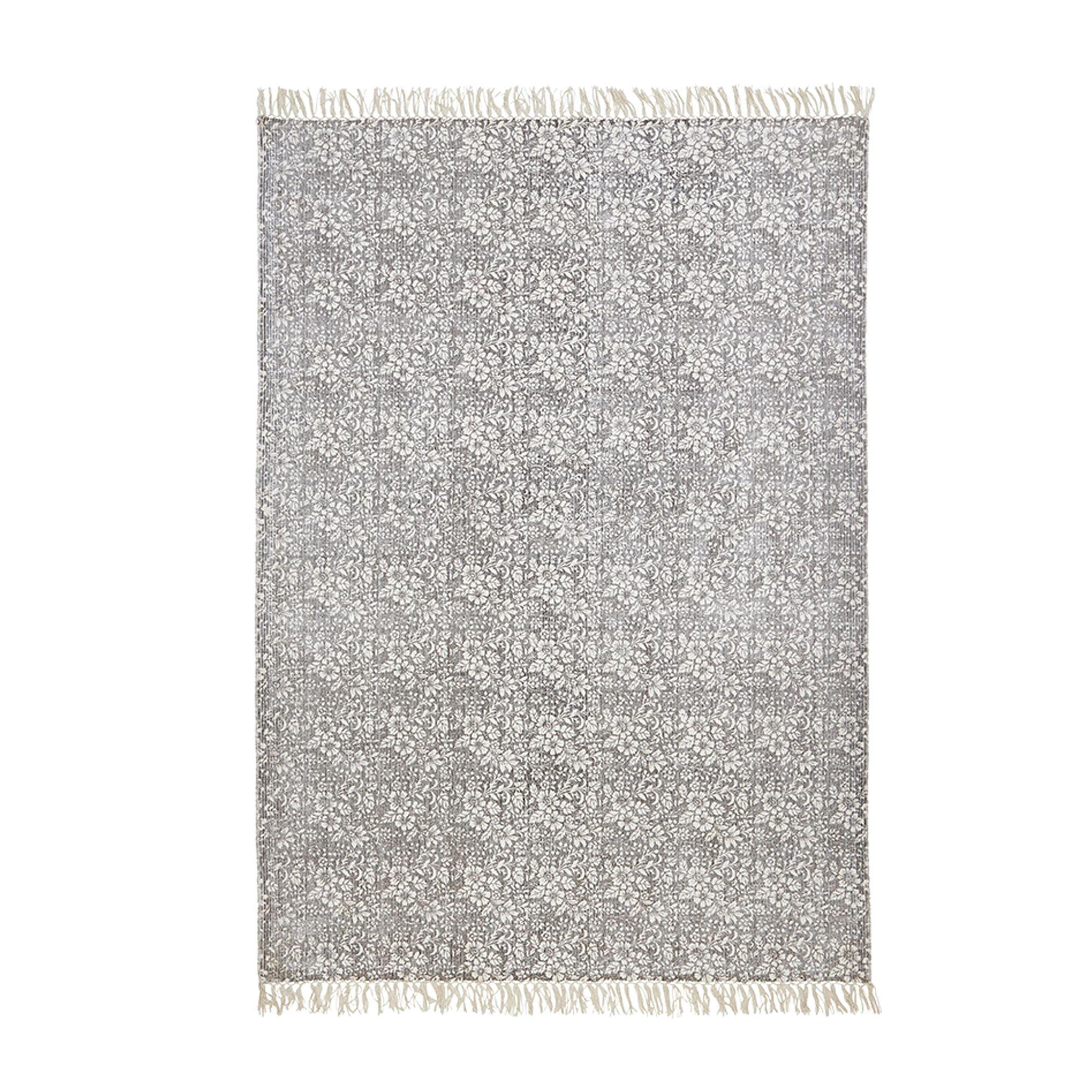 Colours Ellisya Grey Ditsy Floral Rug (L)230cm (W)160cm
