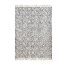 Colours Elllisya Grey Ditsy Floral Rug (L)230cm (W)160cm