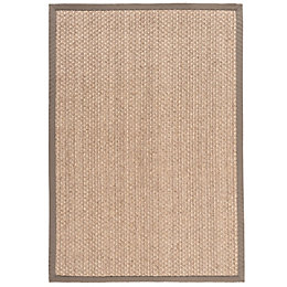 Colours Brenna Taupe Border Rug (L)0.17M (W)0.12 M