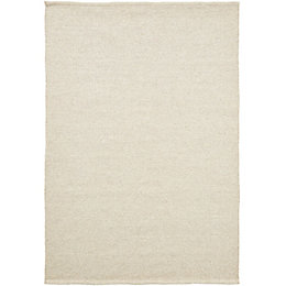 Colours Mahalla Cream Plain Rug (L)230cm (W)160cm