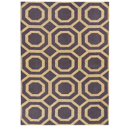 Colours Athena Gold Geometric Rug (L)170cm (W)120cm