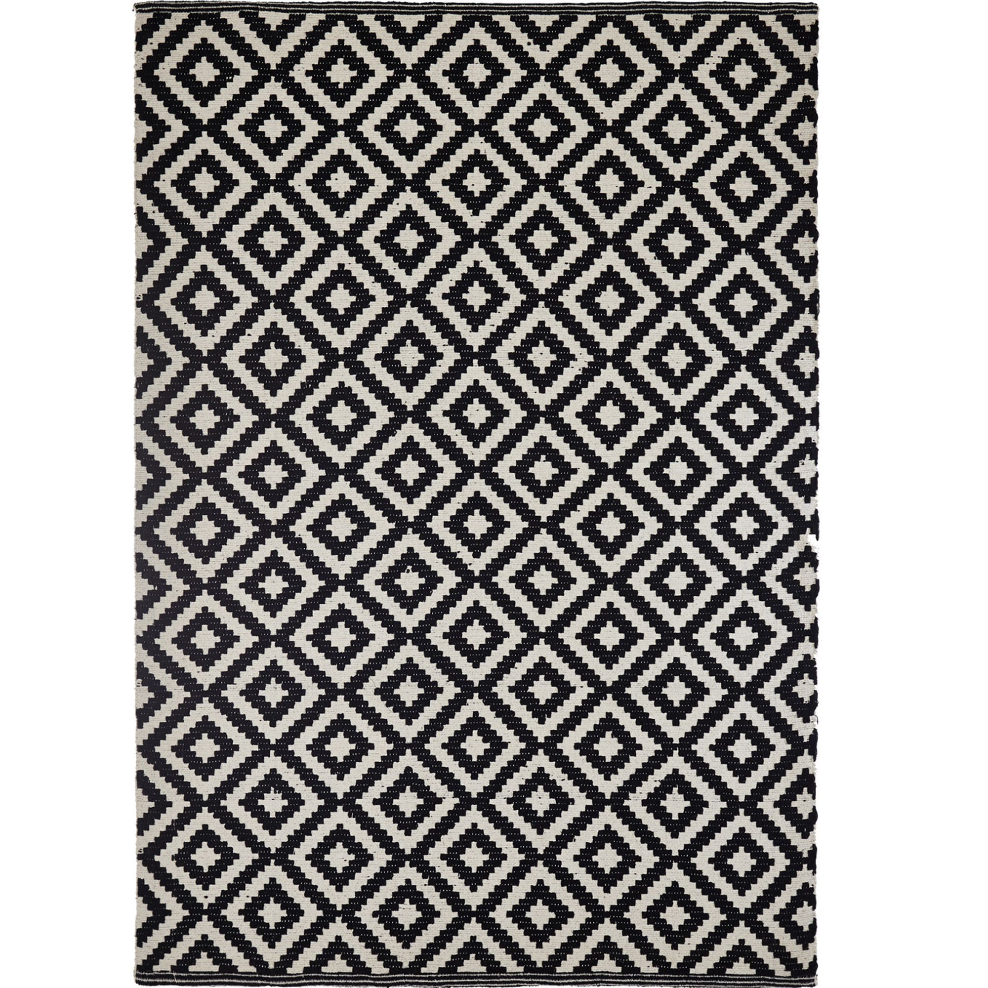 Colours Harrietta Black White Geometric Rug L 0 23m W 16 M Departments Diy At B Q