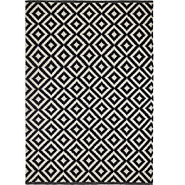 Colours Harrietta Black & White Geometric Rug (L)230cm