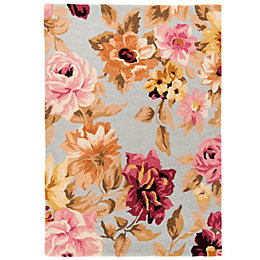 Colours Lorilie Multicolour Floral Rug (L)1.7M (W)1.2 M