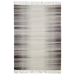Colours Mindy Grey Striped Rug (L)2.3M (W)1.6 M