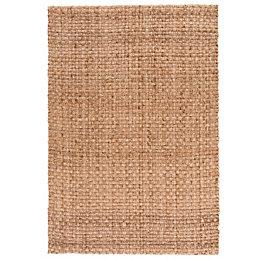 Colours Odette Natural Plain Rug (L)170cm (W)120cm