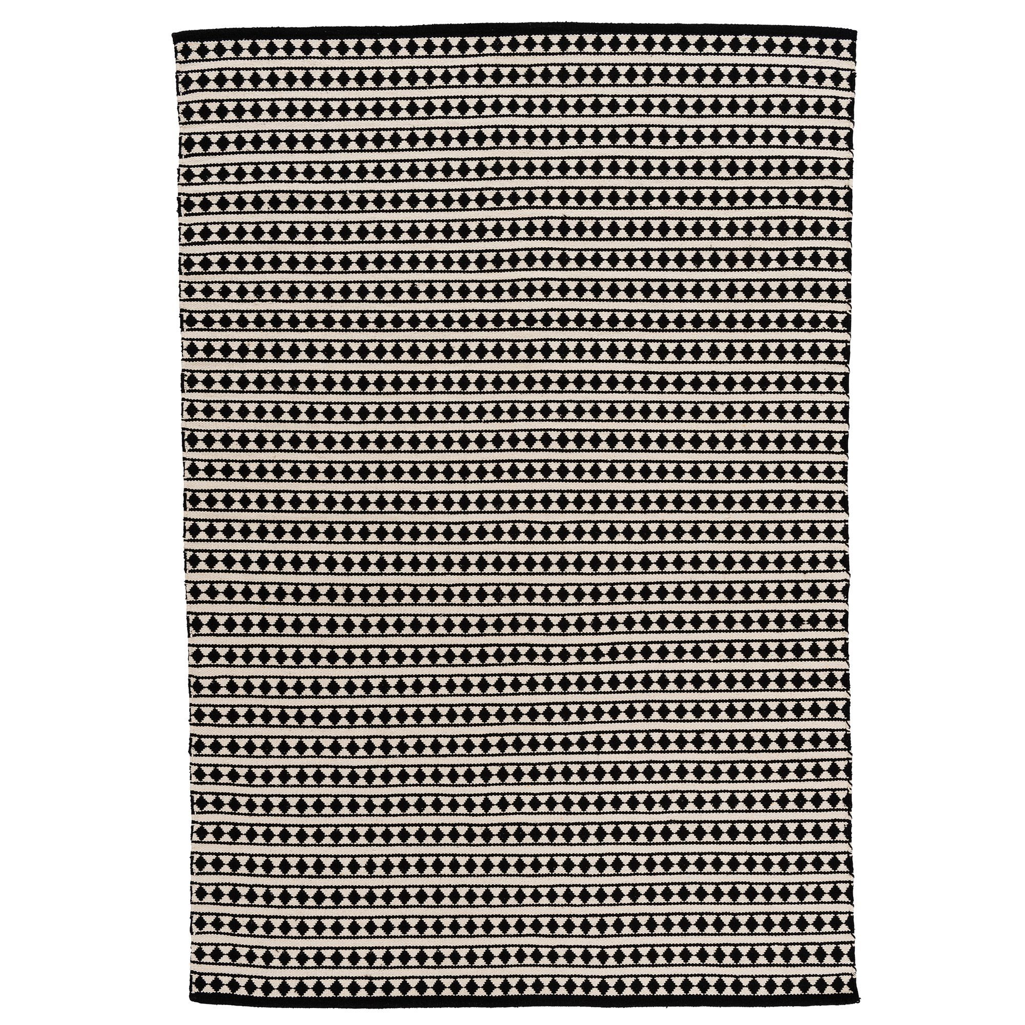 Colours Aveline Black White Striped Rug L 1 7m W 2