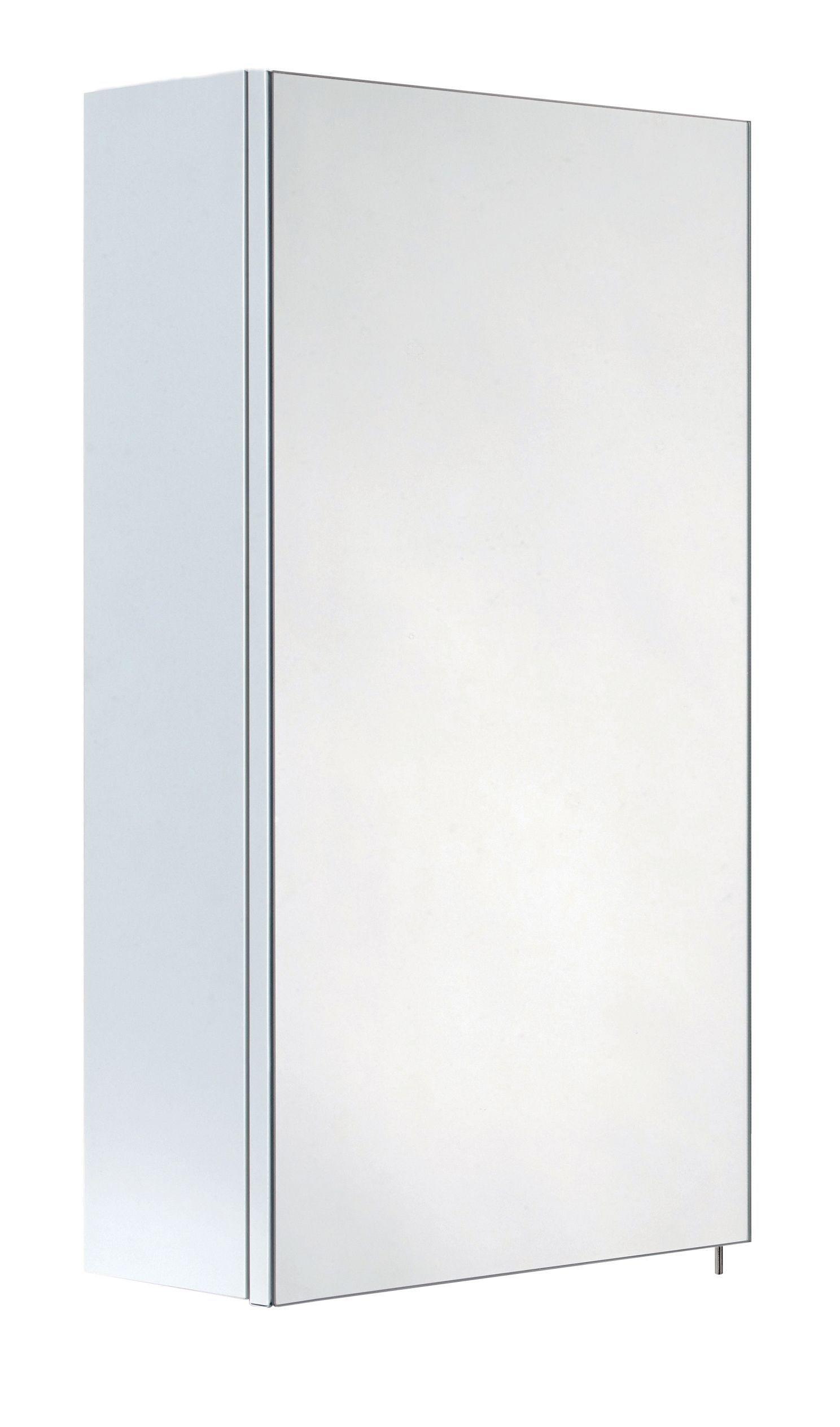 Varese White Single Door Mirror Cabinet