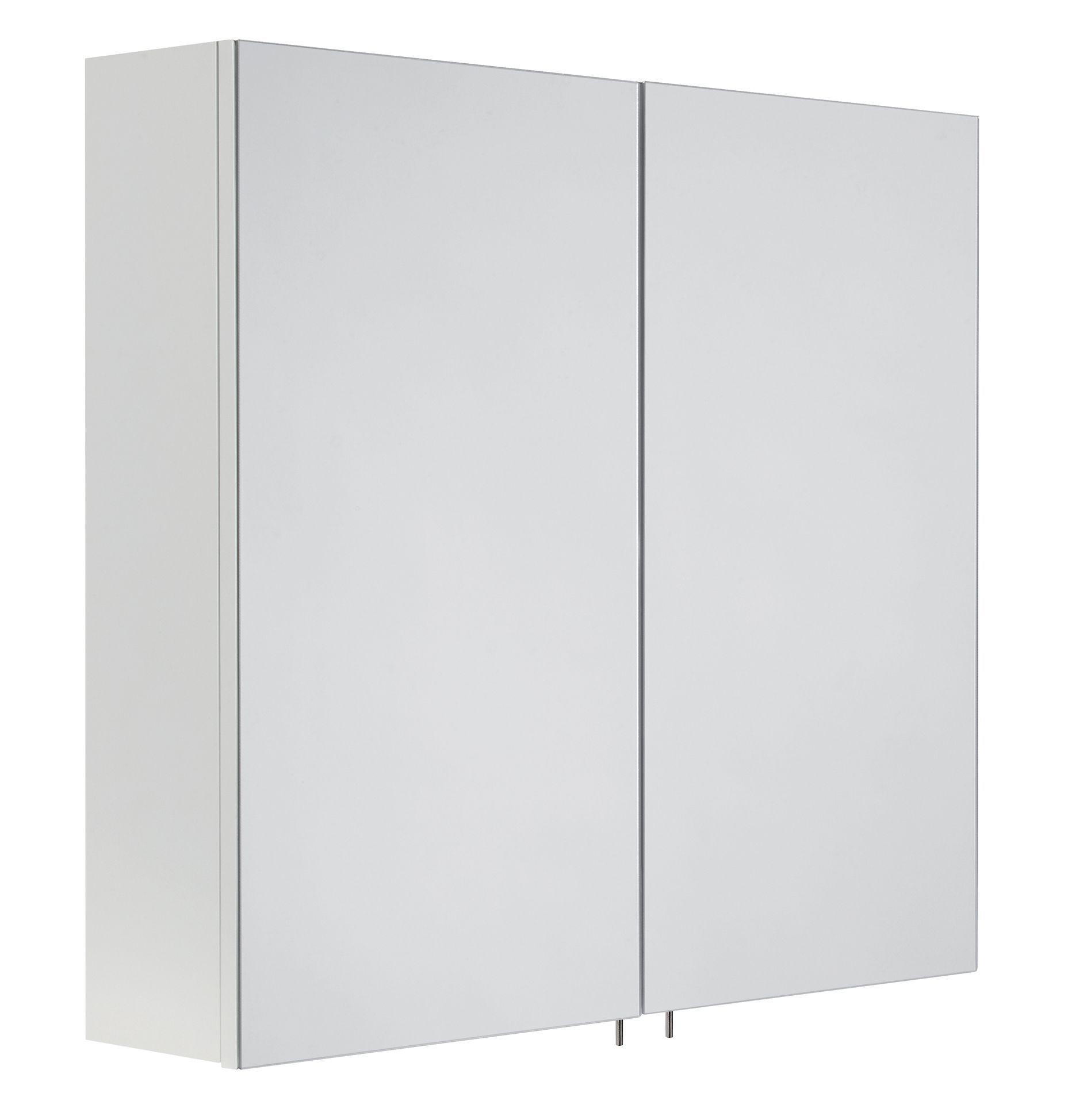 Varese White Double Door Mirror Cabinet