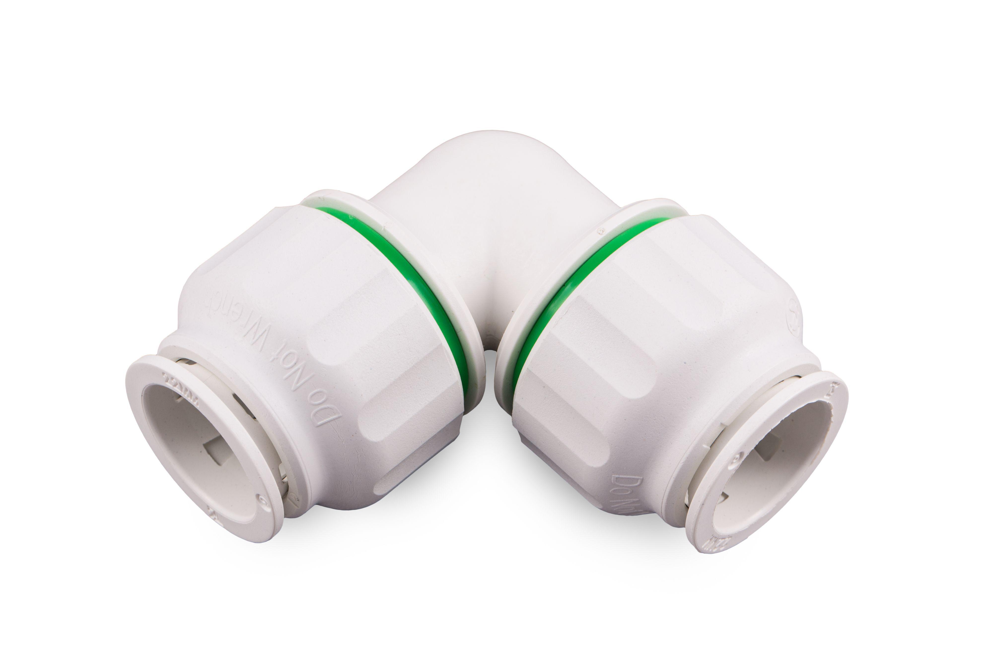 Plumbsure Push Fit Elbow Dia 22mm Departments Diy At B Amp Q