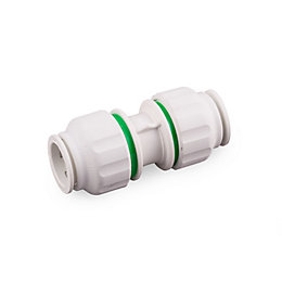 Plumbsure Push Fit Straight Connector (Dia)15mm, Pack of