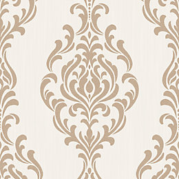 Colours Takara Cream Damask Glitter Effect Wallpaper