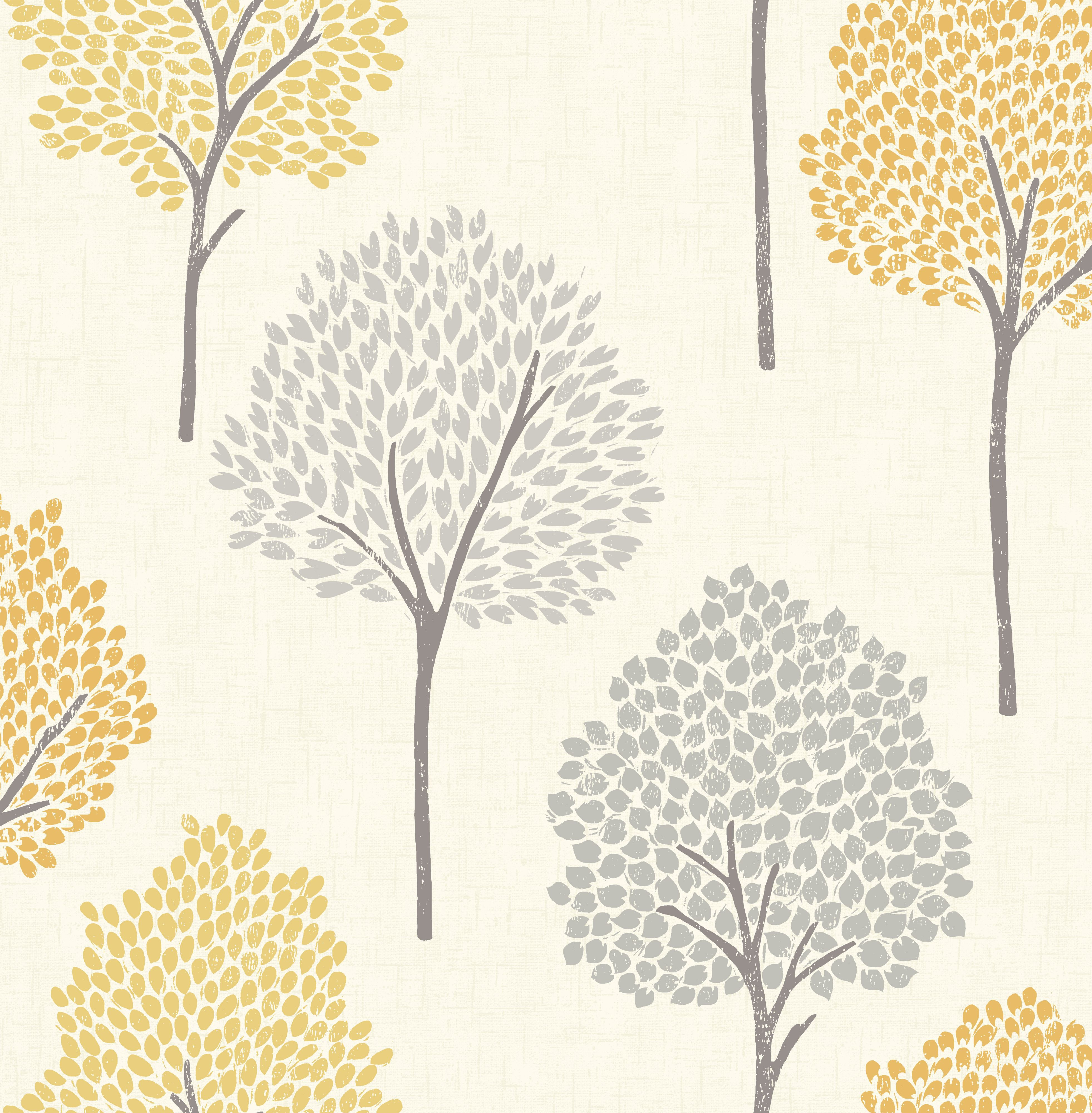 Colours Eula Grey Amp Yellow Forest Wallpaper Departments