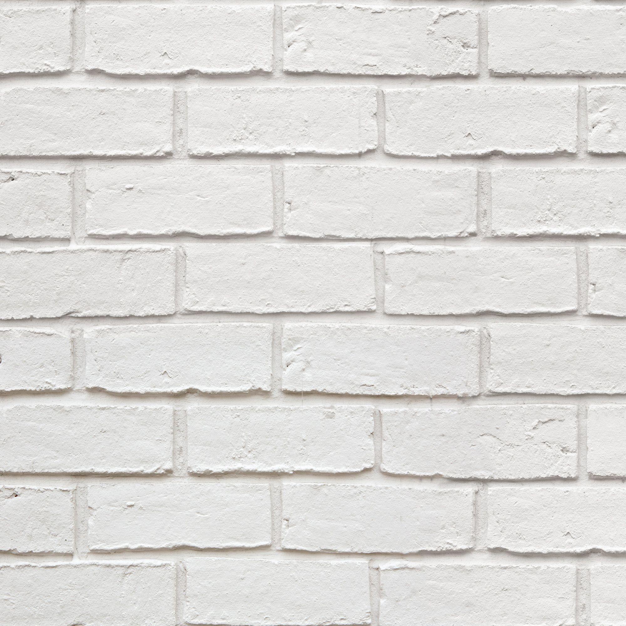 Colours White Faux Brick Textured Wallpaper Departments