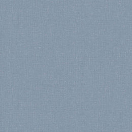Colours Harris Blue Plain Linen Textured Wallpaper